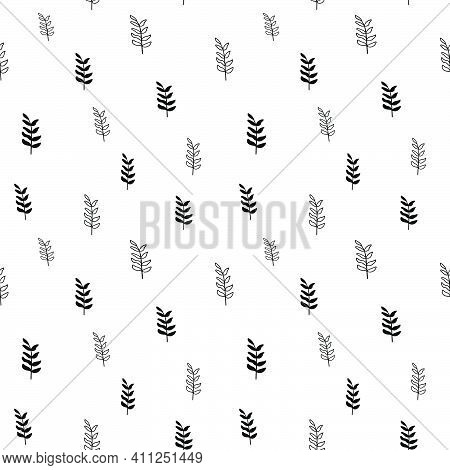 Plant Seamless Pattern Digital Paper Pack Combines Beautifully With 13 Styles Of Black & White Hand-
