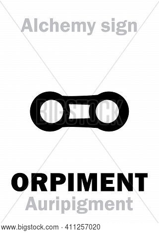 Alchemy Alphabet: Orpiment / Auripigment (auripigmentum