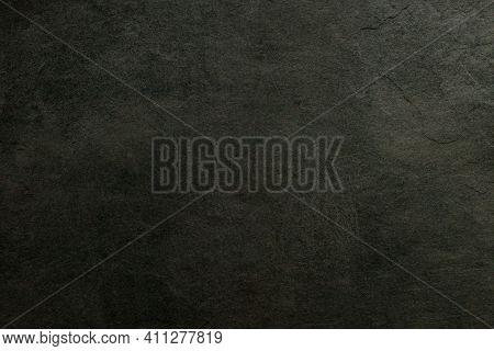 Dark Concrete Textured Wall Background.black Cement Wall Texture For Interior Design. Dark Edges.cop