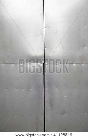 Metal Wall With Reflection