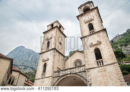 The Cathedral Of Saint Tryphon, In Kotor In Montenegro.