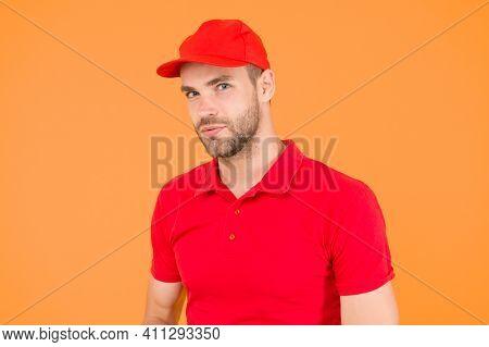 Supermarket Cashier. Cashier Occupation. Hiring Shop Worker. Handsome Guy Cashier Uniform. Restauran