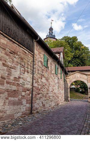 Entrance Gate Of Wilhelmsburg Castle In Schmalkalden, Thuringia