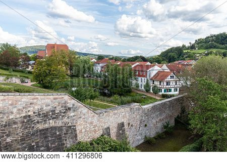 View Of The City Schmalkalden, Thuringia  From Wilhelmsburg Castle