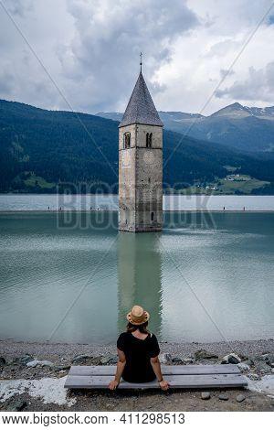 The Famours Sunken Church Of Reschensee, Austria