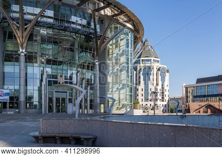Moscow, Russia - May 21, 2014: Sights Of Moscow - Moscow International House Of Music. The Building