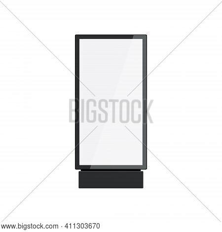 Totem Light Box Bilboard Advertising Poster Mockup. Digital Lightbox Icon Black Display Banner