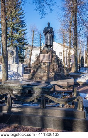 Minsk, Belarus - March 6, 2021: Monuments To The Fallen Belarusian Heroes And On The Graves Of Yanka