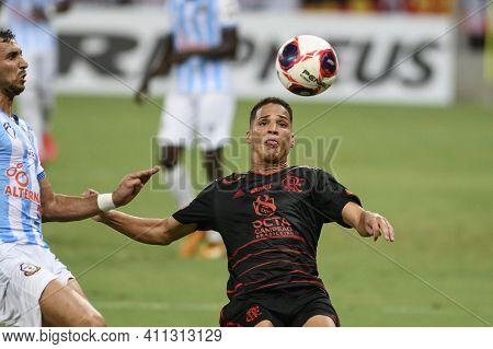 Rio, Brazil - March 06, 2021: Thiaguinho Player In Match Between Macae V Flamengo By Carioca Champio