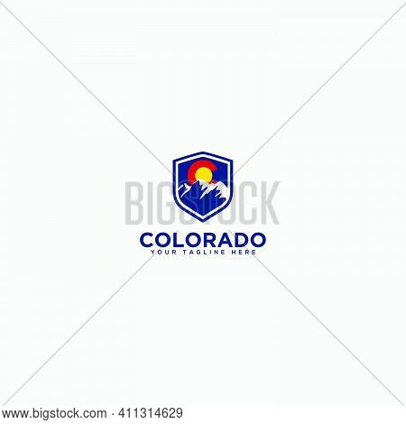 Secure Mountain Logo, Colorado Mountain, Safety Logo