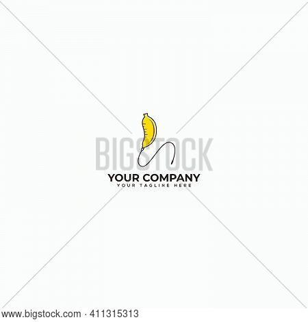 Banana Booster Logo Design, Multivitamin Banana Logo, Infuse Banana