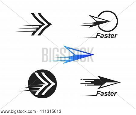 Arrow Vector Illustration Icon Logo Of Delivery And Logistic  Business Template