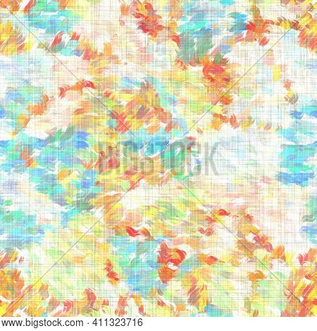 Watercolor Melange Stripe Texture Background. Hand Drawn Irregular Abstract Line Seamless Pattern. M