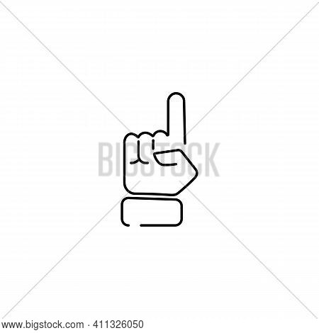 Thin Line Finger Like Easy Logo. Concept Of Female Or Male Make Flicking Fingers And Popular Gesturi