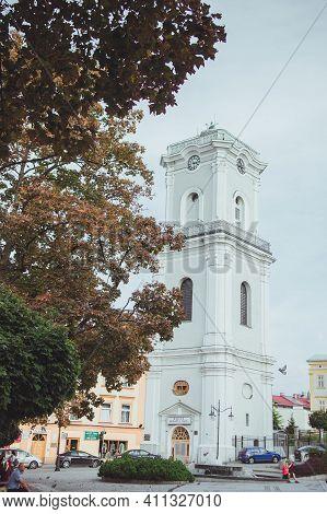 Przemysl, Poland - October, 2016: Late Baroque Clock Tower, Wieza Zegarowa, Erected In 1775-1777 As