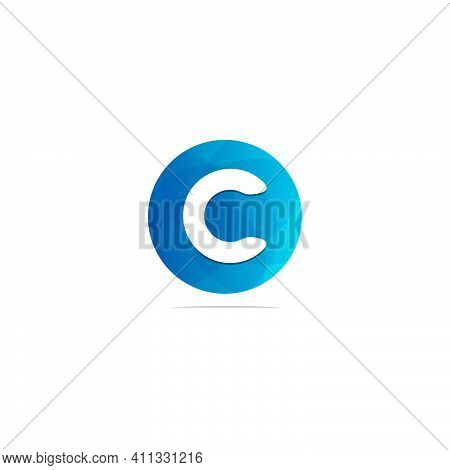 Abstract Circle Letter Logotype C. Suitable For Trademarks, Company Logos, And Others. Vector Illust