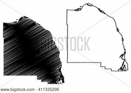 Columbia County, Oregon State (u.s. County, United States Of America, Usa, U.s., Us) Map Vector Illu