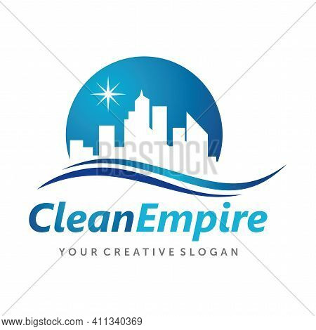 House Cleaning Logo, Cleaning Service Logo Vector