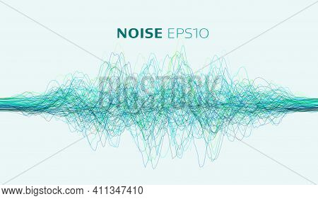 Vector Sound Wave. Abstract Music Pulse Background. Vector Illustration. Sound Wave Voice Ai. White