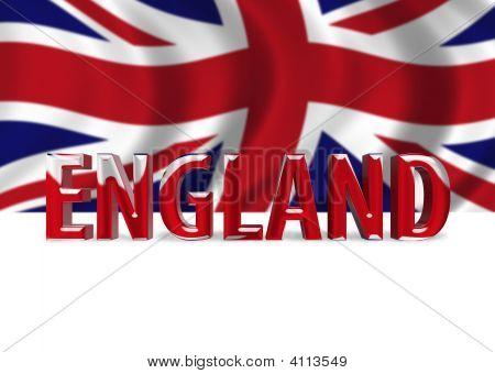 3D Shiny England Text