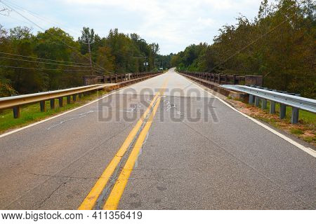 A Road And Bridge On A Country Road