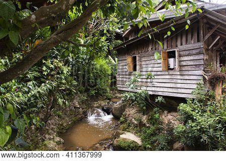 View Landscape And Creek Of Mae Kampong Waterfall On Doi Mon Lan In Baan Mae Kampong Peaceful Villag