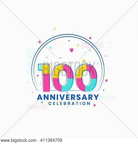 100 Anniversary Celebration, Modern 100th Anniversary Design Vector Illustrator