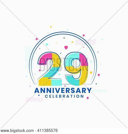 29 Anniversary Celebration, Modern 29th Anniversary Design Vector Illustrator