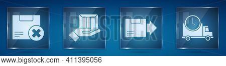 Set Carton Cardboard Box And Delete, Delivery Hand With Boxes, Carton Cardboard Box And Logistics De