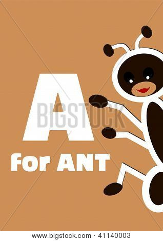 A for the ant, an animal alphabet for the children