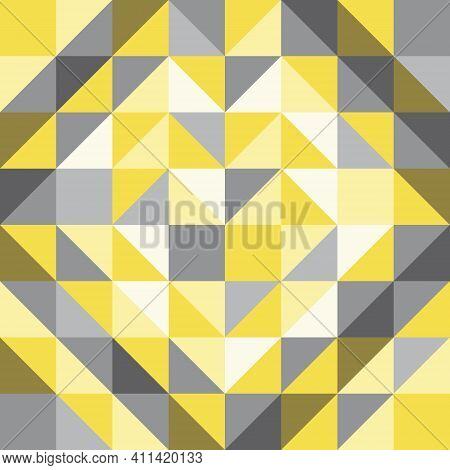 Abstract Background, Geometric Shapes, Triangles Arranged In Heart Shapes. The Color Trends Of 2021