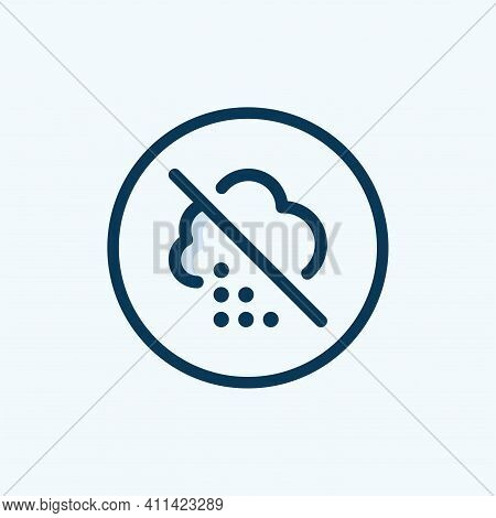 No Thunderstorm Sign With Titles In Rectangle Frames. Illustration Style Is A Flat Iconic Symbol Ins