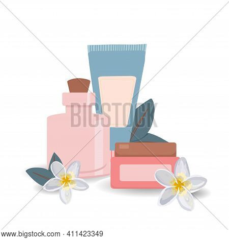 Posters With Cosmetics. Personal Care. Womens Accessories. Make-up And Cosmetics. Cosmetical Tools.