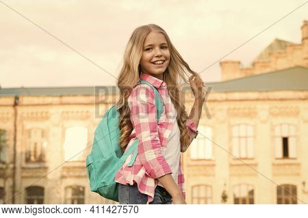 Happiness Of Childhood. Happy Child Back To School. Childhood Development. Childhood And Care. Schoo