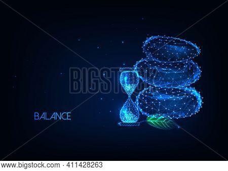 Abstract Technology. Modern Futuristic Technology Background. Blue Hi Tech Background. Technology Ba
