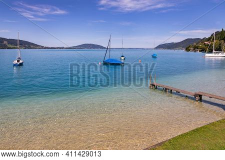 Attersee - Lake In Upper Austria During Sunny Day