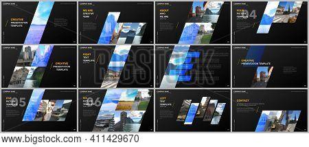 Minimal Presentations Design, Portfolio Vector Templates With Colorful Gradient Geometric Background