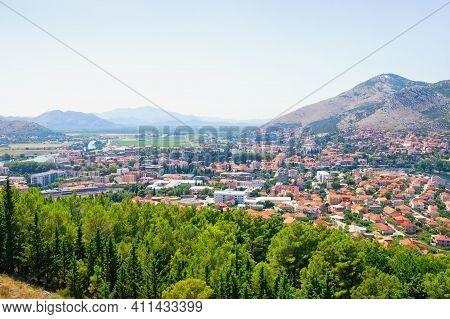 Bosnia And Herzegovina, Republika Srpska. View Of Trebinje City On Sunny Summer Day