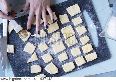 Recipe For Making Puff Pastry Cookies. A Simple Recipe - Step By Step. Instructions For Making Sweet
