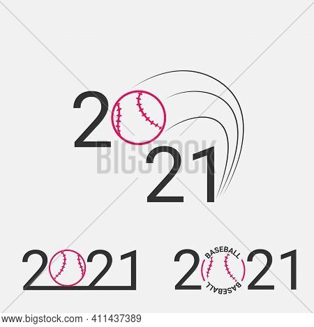 Baseball Sign 2021. Set Baseball Logo For A Baseball Event.