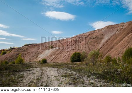 Melted Walls Of Used Industrial Quarry. Quarry Abandoned After Earth Resources (sandstone, Clay & Ot
