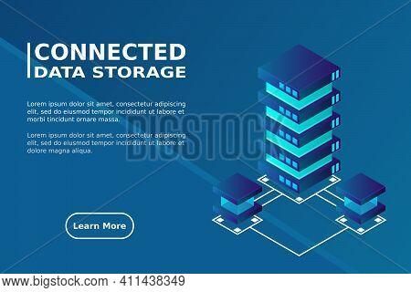 Transfer Of User Data To The Server. Data Flow. Data Storage. Server. Digital Space. Data Center. Bi