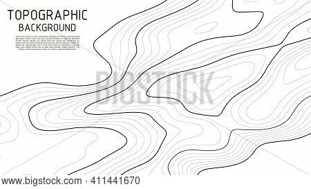 Topographic Map Background. Topographic Pattern Texture. Geographic Mountain Topography Vector Illus