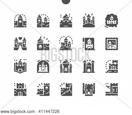 Castles And Fortresses. Building, Architecture, Medieval, Ancient, Kingdom, Fantasy, Fort, Palace, F