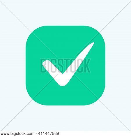 Green Check Mark Icon. Vector Check Icon. Check Mark Logo Vector Or Icon. Tick Symbol In Green Color