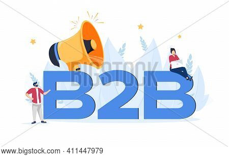 B2b Marketing Abstract Concept Vector Illustration Set. Sales Representative, Personalized Selling,