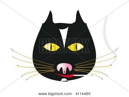 Smoking Cat.