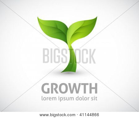 green design - growth vector illustration