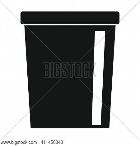 Iron Bucket Black Simple Icon. Vector Iron Bucket Black Simple Icon   Isolated On White Background F