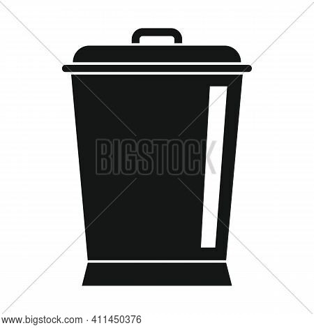 Kitchen Bucket Black Simple Icon. Vector Kitchen Bucket Black Simple Icon   Isolated On White Backgr